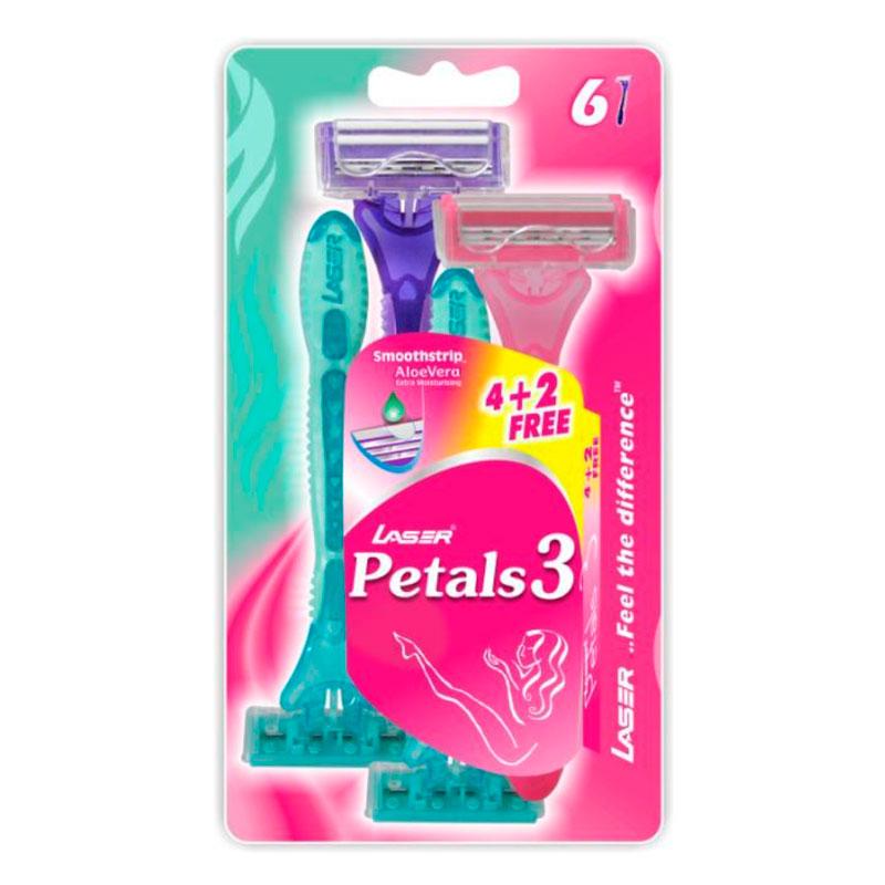 Laser Petals 3 Станок для бритья женский с тройным лезвием 6 шт в упак