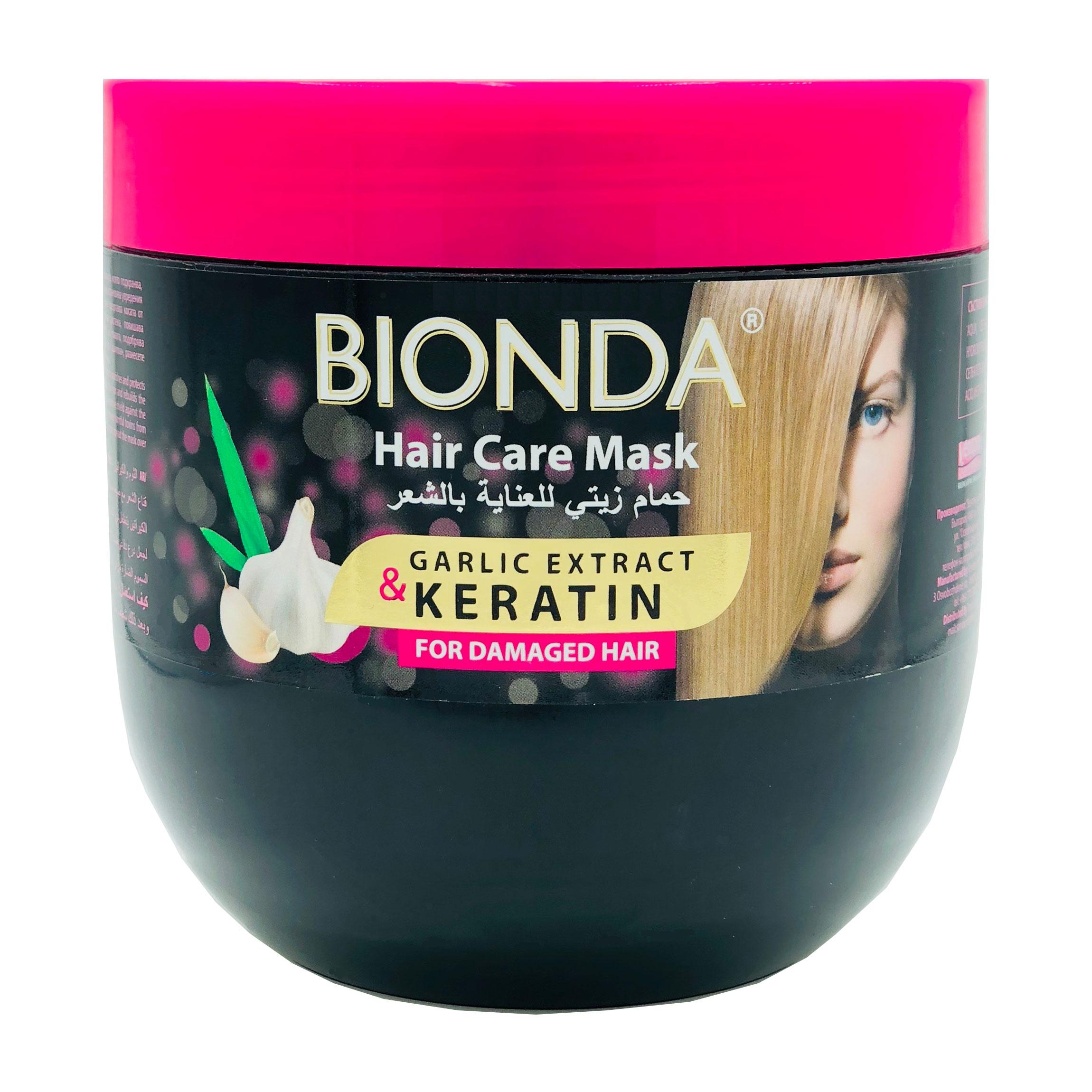 Bionda Professional Маска с Кератином и Экстрактом Чеснока для поврежденных волос 1000 мл